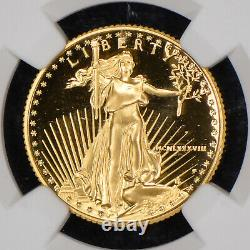 1988-p G$10 1/4 Oz Gold American Eagle No Spots Ngc Pf 69 Uc Lot#z794