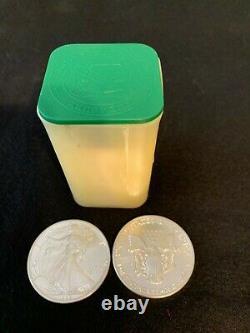 1989 American Silver Eagle 1 Once $1 Pièce Bu (1 Lot, Rouleau De 20)