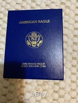 1989-w Américaine Gold Eagle Proof 1 Oz 50 $ Titre Original Mint Emballage Un Oz Or