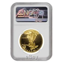 1990 W 50 Oz $ 1 Preuve D'or American Eagle Ngc Pf 69 Ucam Erreur Mint Rev Struck