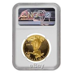 1992 W 50 Oz $ 1 Preuve D'or American Eagle Ngc Pf 69 Ucam Erreur Mint Rev Struck