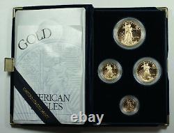 1994 American Eagle Gold Proof 4 Coin Set Age Dans La Boîte À Menthe Américaine Avec Coa