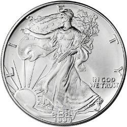 1994 American Silver Eagle (1 Oz) 1 $ 1 Rouleau Vingt Pièces De 20 Bu Dans Un Tube À La Menthe