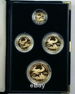 1994 Us Mint Américaine Gold Eagle Set Bullion Coins Proof Gem Age Box & Coa