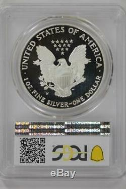 1995 W Preuve D'argent American Eagle Pr69 Dcam Pcgs 1 Oz Us Mint $ 1 Coin Date Clé