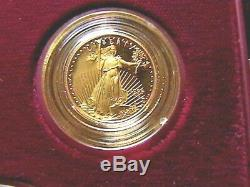 1995-w Ensemble Commémoratif En Or Et Argent Pour Le 10e Anniversaire De La U. S. Mint Unc