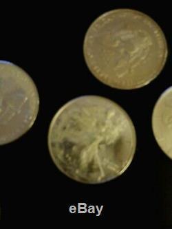 1996 American Silver Eagle 1 Oz. Rouleau De 20, À La Menthe Tube