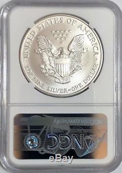 1996 Ngc Ms70 Silver American Eagle Mint État 1 Oz. 999 Lingots Fins