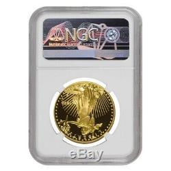 1996 W 50 Oz $ 1 Preuve D'or American Eagle Ngc Pf 69 Ucam Erreur Mint Rev Struck