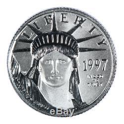 1997 1/10 Oz Mint Etat Américain Platinum Aigle