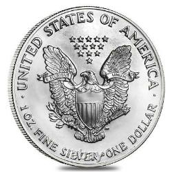 1997 $1 American Silver Eagle Roll Of 20 Bu Conteneurs De Menthe D'origine Américaine