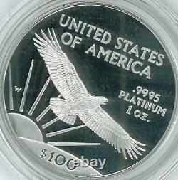 1997-w American Eagle Platinum 4 Pièce Proof Set /1.85 Oz Basse Menthe-jusqu'à 3 Ensembles