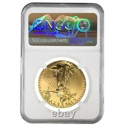 1998 1 Oz 50 $ Gold American Eagle Ngc Ms 69 Mint Error (rev Struck Thru)