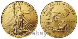 1998 Us Mint 25 $ Half Ounce Gold American Eagle Bullion Coin Free Ship