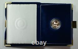 1998-w American Eagle 1/10th Oz Gold Proof Coin En Boîte À Menthe Avec Coa