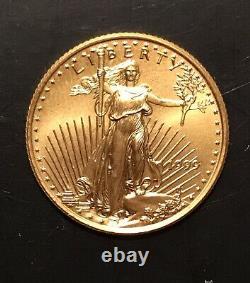 1999 1/4 Oz /$10 Dollar D'or Fin Aigle Américain Mint Livraison Livraison Gratuite