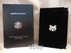 1999-w Platinum American Eagle Proof Ensemble De Quatre Pièces 1,85 Oz. Avec Boîte À Menthe Coa