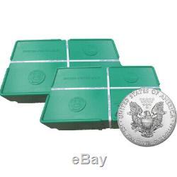 1 000 Pièces D'argent Américaines De 1 Once American Eagle Dans 2 Boîtes De Monstres Scellés De 500 Pièces Us Mint