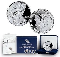 (1)2021-w American Silver Eagle Proof Type1, Monnaie Article 21ea
