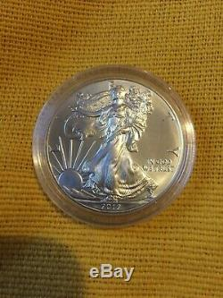 1 Dollar American Eagle 2012.999 Argent 1oz Pièce Non Circulée 20 Monnaies