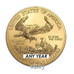 1 Once American Eagle Pièce De 50 $ En Or Année Aléatoire Us Mint Gold American Eagle 1 Once