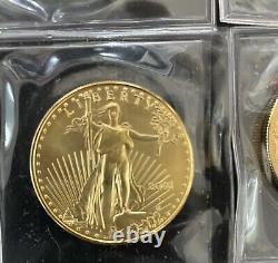 1 Oz American Gold Eagle $50 Coin Bu- 2001 Us Mint. Non Circulé, Intact