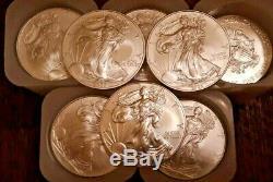 1 Oz D'argent American Eagle Bu (random Année) Lot De 20 X 5 Lots (100 Pièces)