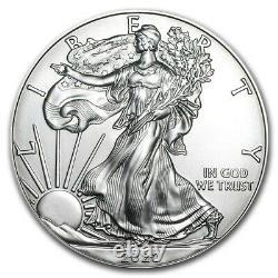 1 Rouleau 2020 American Silver Eagle 1 Oz (20) Pièces Bu Mint Tube