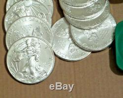 1x Rouleau De Tube À La Menthe 2011 De 20.999 Pièces D'argent American Eagle De 1 Once Bu