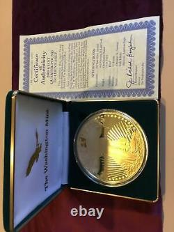 2000 Pièce De Preuve De L'aigle Du Quart Géant 4oz Troy. 999 Monnaie D'argent De Washington