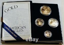 2003 Us Mint American Eagle Ensemble De Pièces Justificatives En Lingot Preuve D'âge Age