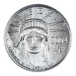 2004 1/10 Oz Mint Etat Américain Platinum Aigle