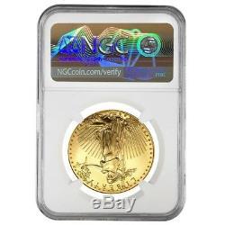 2005 1 Oz 50 $ Or American Eagle Ngc Ms 69 Erreur Mint (rev Frappé Thru)