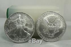2005 American Silver Eagle Pièces De 1 Bu Vingt 20 Bu Dans Un Tube À La Menthe