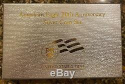 2006 American Eagle 20e Anniversaire 1 Oz 999 Silver Coin Set U. S. Mint