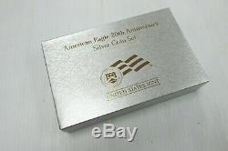 2006 American Eagle 20e Anniversaire Argent 3 Coin Set Avec Us Mint Box & Coa