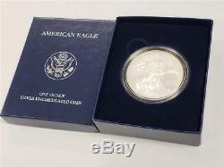 2008 W Inversé De La Pièce De Monnaie Américaine American Eagle 2007 D'argent Avec 2007