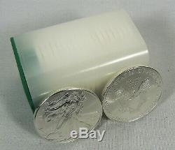 2009 American Silver Eagle Coins De 1 Once Vingt 20 Bu Dans Un Tube À La Menthe