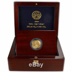 2009 Us Mint 20 $ Ultra High Relief Double Eagle Gold Coin Avec La Boîte, Coa Et Livre