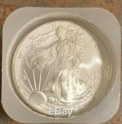 2010 Monnaie Rouleau De 20 1 Troy Onces. 999 En Argent Fin American Eagle Coins 1 Bu $