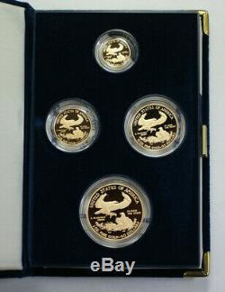 2010 Us Mint Américaine Gold Eagle Gem Set Bullion Coins Proof Age Boîte & Coa (commission Paritaire De Recours)