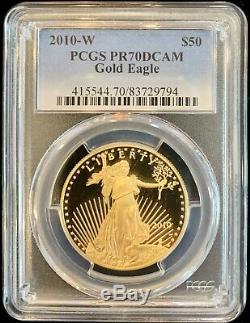 2010-w American Eagle Eagle. 9999 Éprouvettes Pr70 Dcam 1 Once Pcgs Deep Cameo