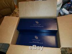 2011 25e Anniversaire 5 Ensemble De Pièces American Silver Eaglewith U. S. Mint Box & Coa