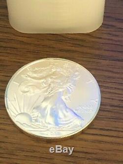 2011 Rouleau De 20 Bu American Silver Eagle 1 Oz. Dans Tube Mint. Coins Very Nice