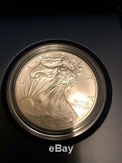 2011 Silver Eagle 25e Anniversaire 5 Set Coin Dans Mint Condition