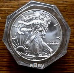 2011 (s) $ 1 Silver Eagle Pcgs Bu Strike First Roll 20 Coins Sf Mint