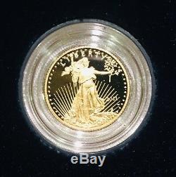 2011-w American Gold Eagle Proof 1/10 Oz $ 5 États-unis Mint Packaging & Coa
