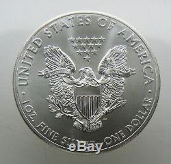 2012 1 Oz Américain Silver Eagle Rouleau De 20 Original Tube En Bon État Bu