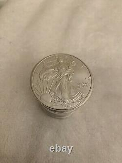 2012 American Silver Eagle 1 Oz Bullion Coins Roll Of 20 In Mint Tube