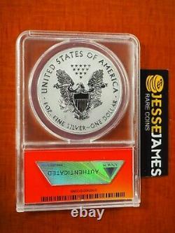 2012 S Inverse Silver Silver Eagle Anacs Pf70 De San Francisco Mint Set L'étiquette
